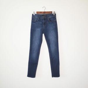 1822 Denim Dark Blue Wash Ankle Skinny Jeans Sz 6